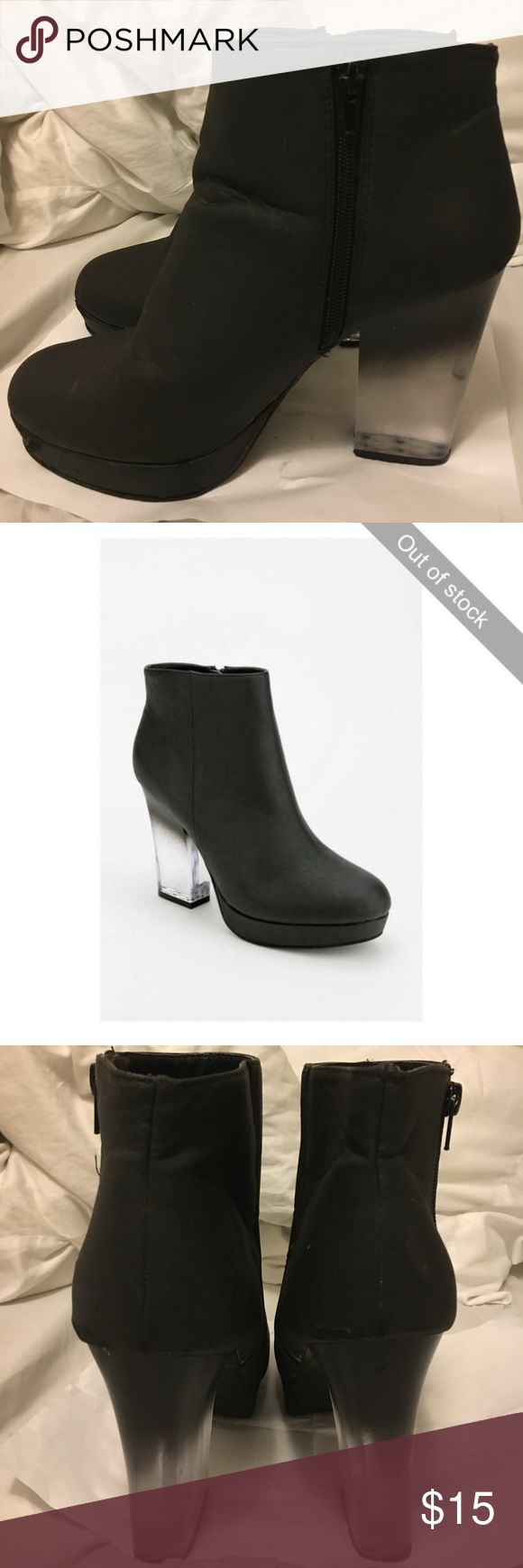 Deena & Ozzy Platform Ombré Bootie Details in the last pic! Awesome trendy heel. Signs of wear hence price adjustment!!! Urban Outfitters Shoes Ankle Boots & Booties