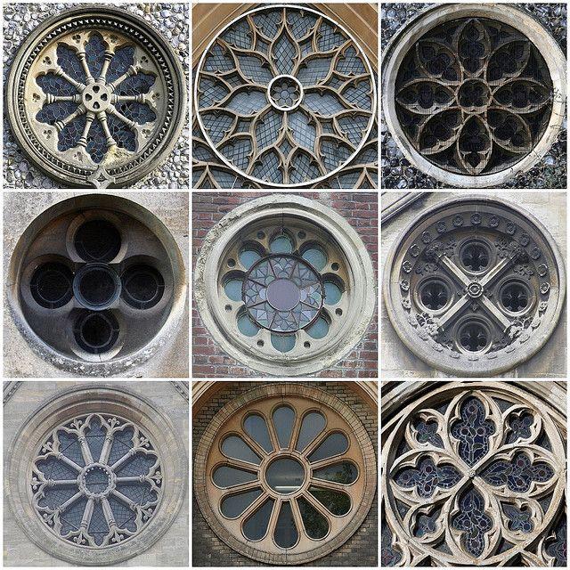 Ventanas de Iglesias, con maravillosas formas en Mandalas... ॐ