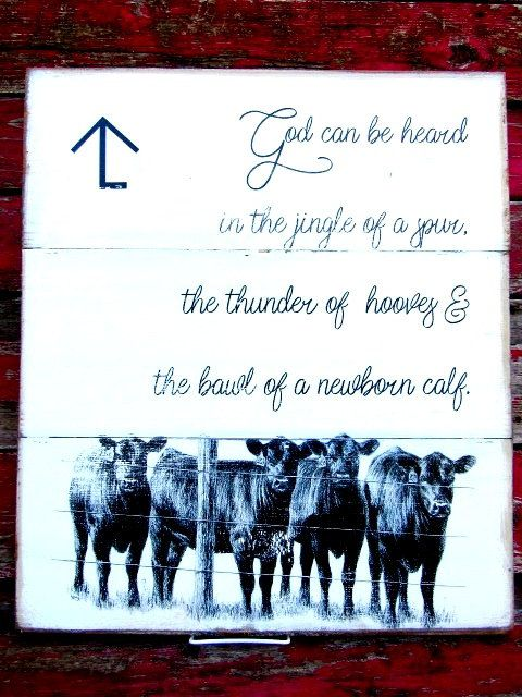 Cows God Can Be Heard Custom Brand 18x21 Personalized Angus Decor Angus Cattle Ranch Personalized Brand Cow Decor Farmhouse Fixer Upper