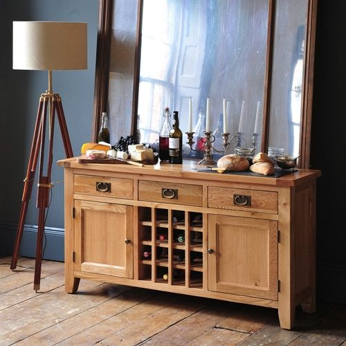 Montague Oak Sideboard With Wine Rack. Kitchen FurnitureHouse ...