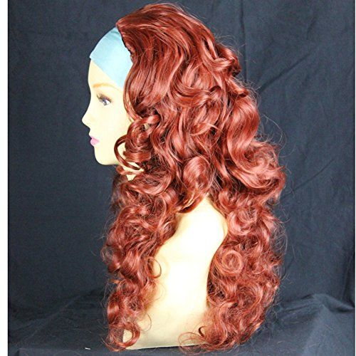 Curly Copper Red 3/4 Fall Hairpiece Long Curly Layered Half Wig Hair Piece -- Learn more @ http://www.amazon.com/gp/product/B00FSOHECU/?tag=beautycare888-20&phi=070816034505