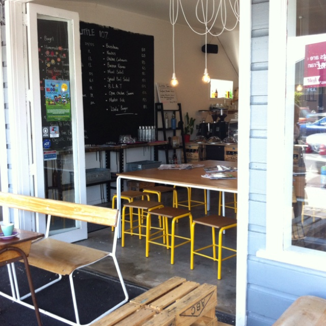 Vintage School Themed Interior Of Little107 Coffee Shop Ponsonby Rd Auckland