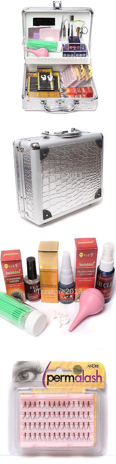 Makeup Sets and Kits: False Lashes Individual Extension Eyelash Micro Brushes Glue Tools Kits Case Set BUY IT NOW ONLY: $56.99