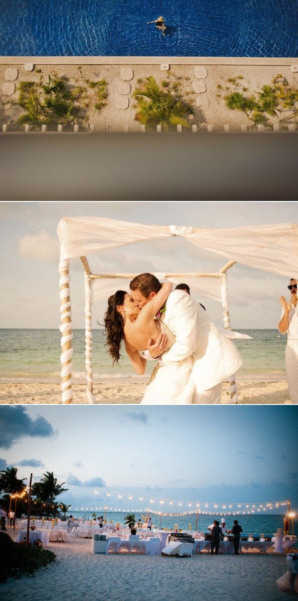 Playa Mujeres, Mexico Beach Wedding from Fer Juaristi - @Stephanie Thornton - This wedding is AMAZING!