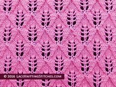 #laceknitting. #1 Fern Lace or Leaf-Patterned stitch