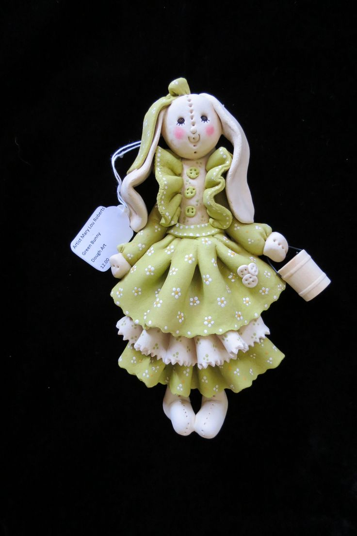 Rabbit Dough Art Doll