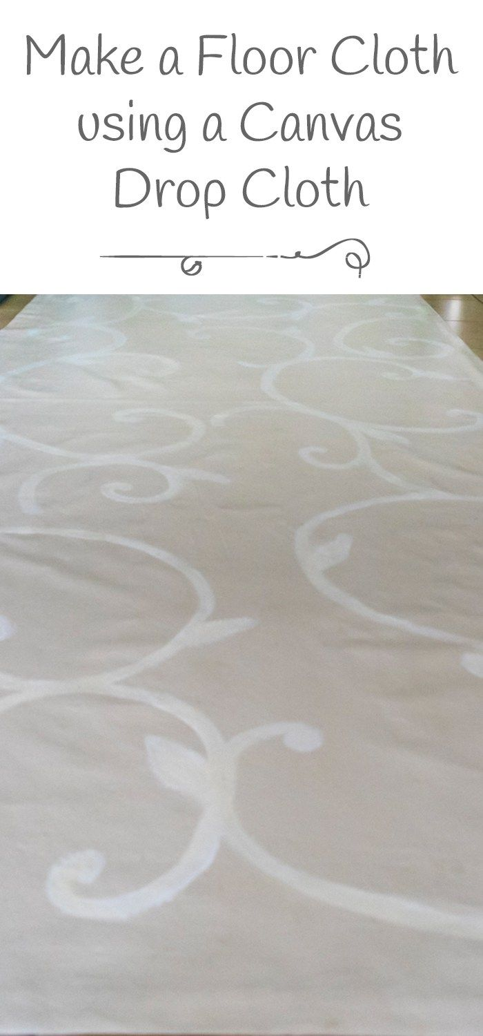 Make a floor cloth from a drop cloth orc week 5 for How to paint a floor cloth