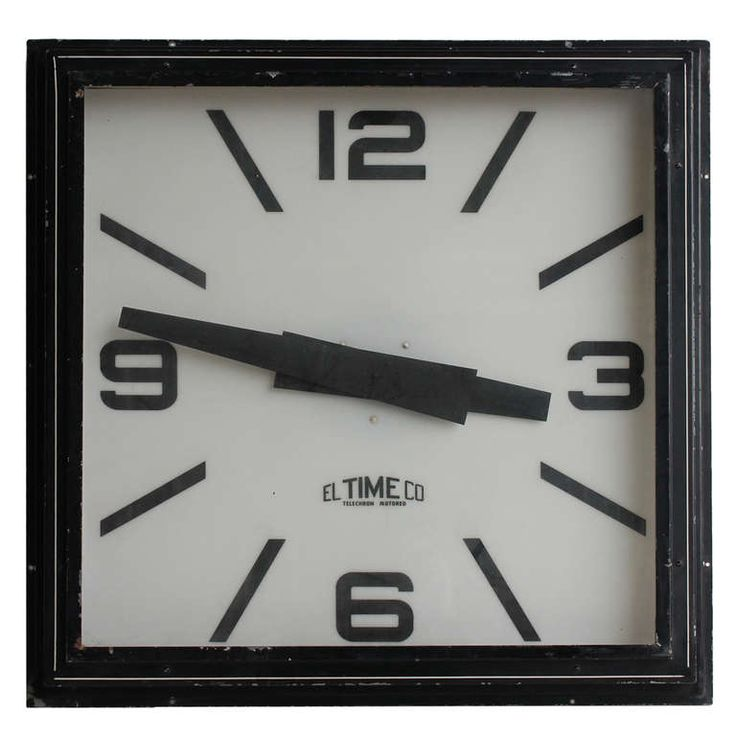 Large Vintage Wall Clock by El Time Co | From a unique collection of antique and modern wall clocks at http://www.1stdibs.com/furniture/wall-decorations/wall-clocks/