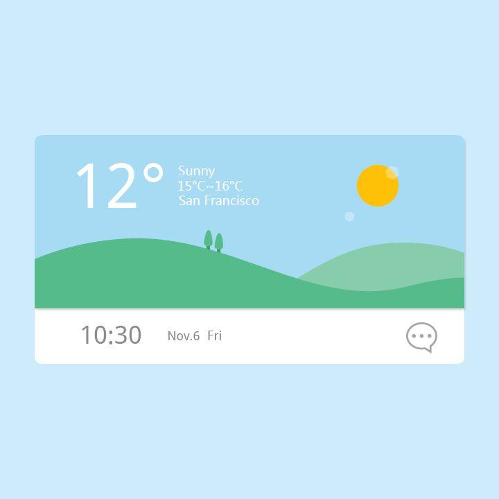 weather widget on Behance