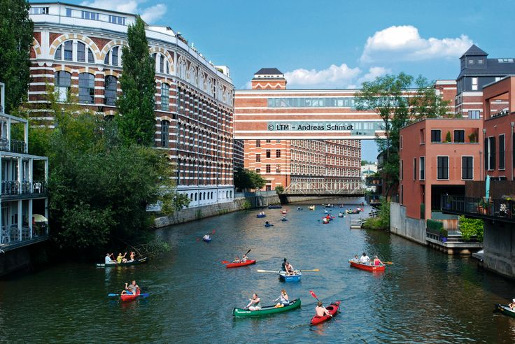 Leipzig Plagwitz: Industrial architecture intersects with life at the Weiße Elster River. #germany25reunified Enter the #InspiredBy Pinterest Contest for your chance to win a trip to Germany!