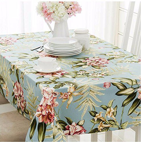 WFLJL European Style Tablecloth Cotton Decoration Kitchen Coffee Table  Dining Table Cover Cloth 85X85cm