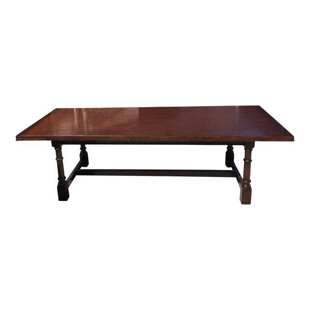 Image of Ralph Lauren Glenbeigh Mahogany Trestle Dining Table Price Dropped!!!