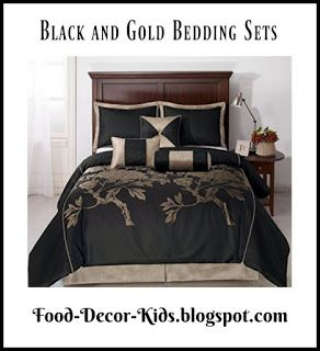 black and gold bedding sets