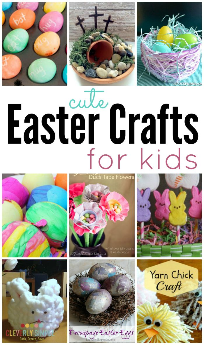 Check out all these cute Easter crafts for kids. They're not only easy to make but they're bright and cheerful for Spring!