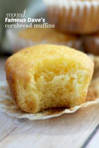 These Copycat Famous Dave's Sweet Cornbread Muffins taste just like the restaurant kind, every bit as moist and delicious with the honey butter recipe, too! I think these muffins are so good because they are made with cake mix! Copycat Famous Dave's Sweet
