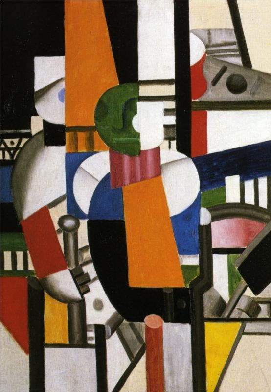 The Main with the Cane by Fernand Leger (1920); I can't find his Woman in Blue :( for my board....