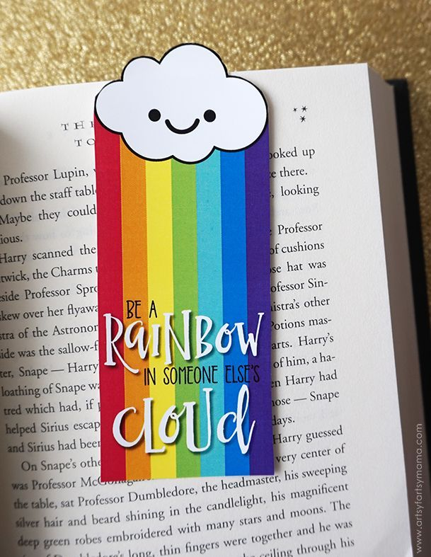 Free Printable Rainbow Bookmarks | Free Printables | Pinterest
