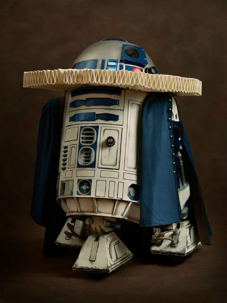 'Super Flemish'  R2-D2.  Photo: Sacha Goldberger.  (Icons of popular culture dressed and photographed in the lush style of Flemish paintings).