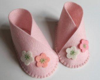 Zapato de bebé juego lana de fieltro mocasines Kit de