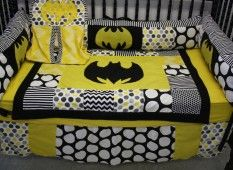 Baby Nursery Exciting Black And Yellow Batman Nursery Bedding With Polka Dot Accent Set For Crib Design gothic black baby crib with awesome batman nursery bedding set and musical mobile decoration