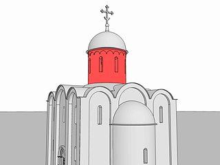 Барабан – цилиндрическое или многогранная венчающая часть здания, завершенная сводом или церковной главой.  Чаще всего говорят о барабанах церковных зданий. Барабан может иметь оконные проемы (световой барабан) или быть глухим.  Барабаны часто имеют различные декоративные детали – они украшаются различными фризами, изразцами, аркатурно-колончатыми поясами. В архитектуре барокко барабаны часто украшались волютами.