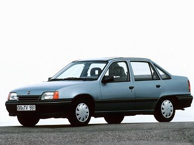 Opel Kadett Sedan (1989 – 1991). Owned a silver ' Expression' edition .