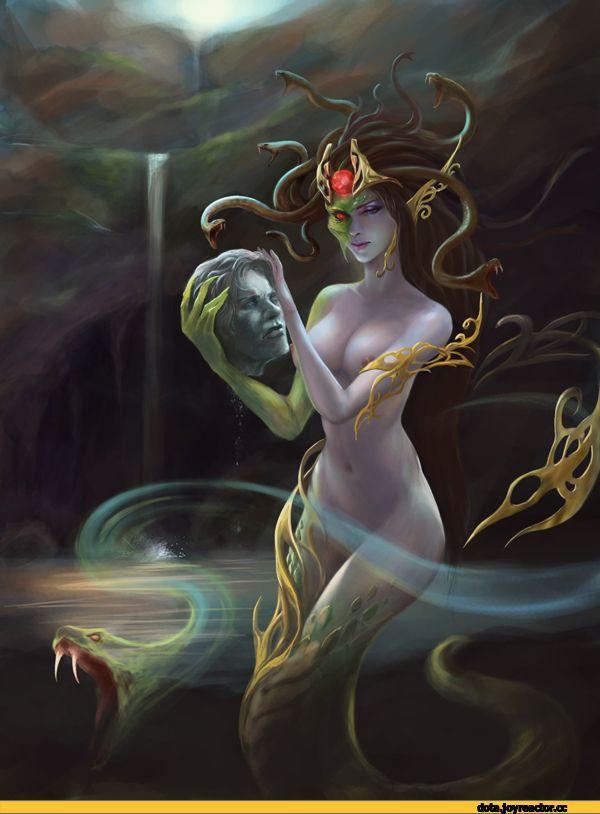 Medusa the Gorgon,Dota,фэндомы,Dota Art,Dota Ero,Dota Эротика, Дота Эротика,darksaga