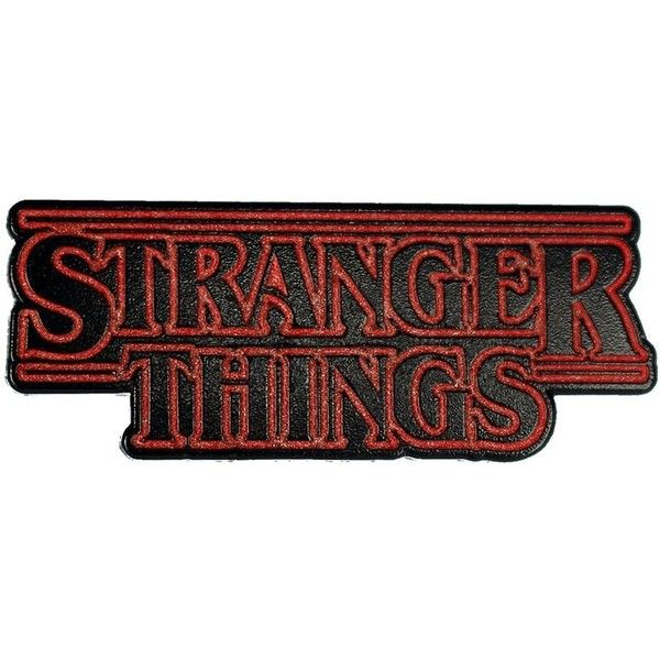 Stranger Things Enamel Pin by Real Sic Inspired Art Pin Premium... ($1) ❤ liked on Polyvore featuring jewelry, brooches, pin jewelry, pin brooch, enamel brooches and enamel jewelry