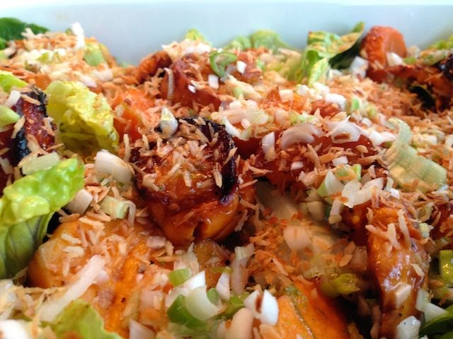 Sweet potato salad with lime and coconut | FoodFamily