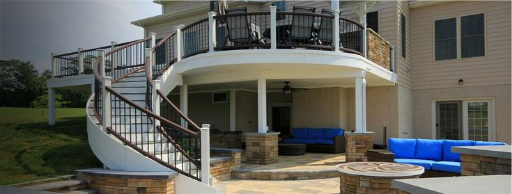 Create a dry, useable space below your elevated deck with ...