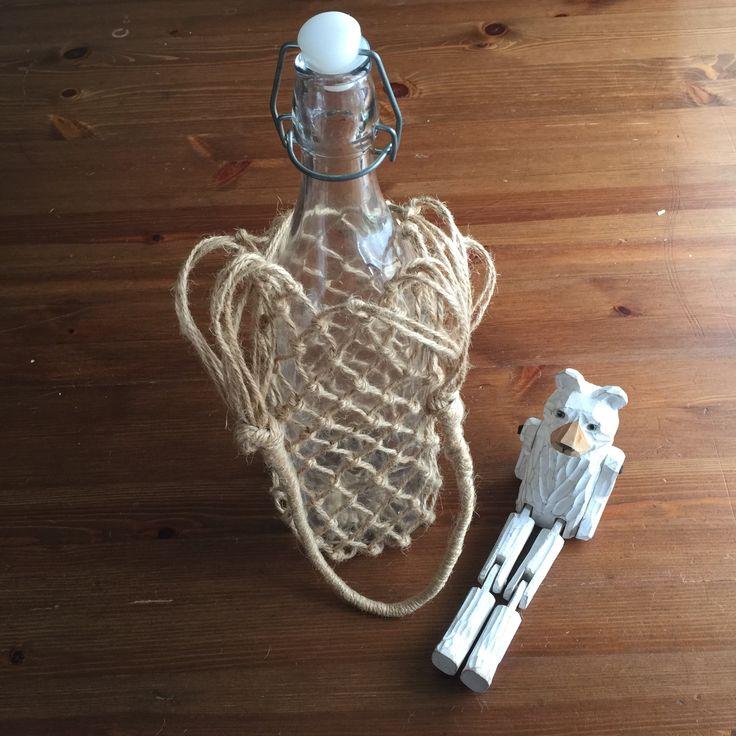 ボトルや水筒を持ち歩きやすいバッグが欲しいと思い作りました。