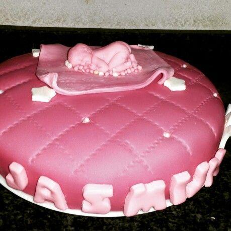 Geboorte meisjes taart