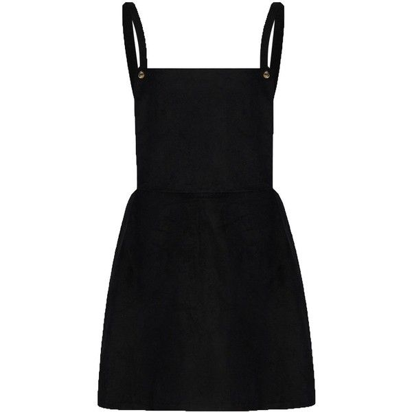 Amazon.com: Choies Women's Black Square Neck Pinafore Suspender... ($17) ❤ liked on Polyvore featuring dresses, vestidos, square neck dress, pinny dress, pinafore dress and square neckline dress