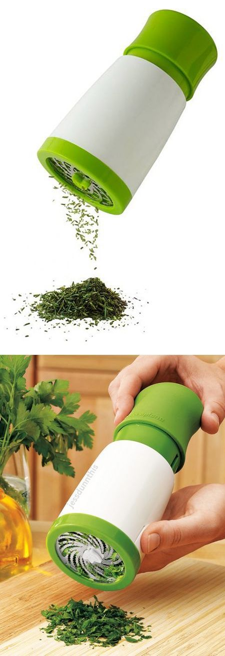 Herb Grinder Mill // with a simple twist, add fresh herbs to meals - Brilliant! #product_design #kitchen