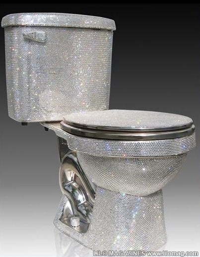That's right.  It's a diamond toilet...