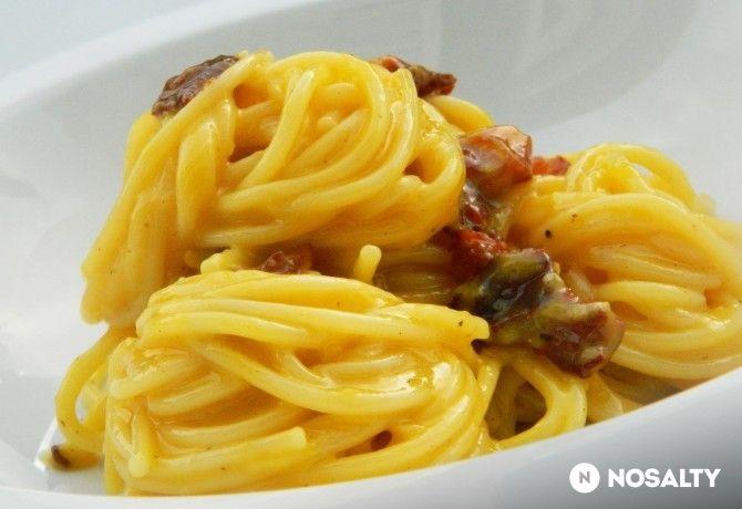 Spaghetti alla Carbonara tejszín nélkül