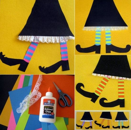 collage de bruja para Halloween