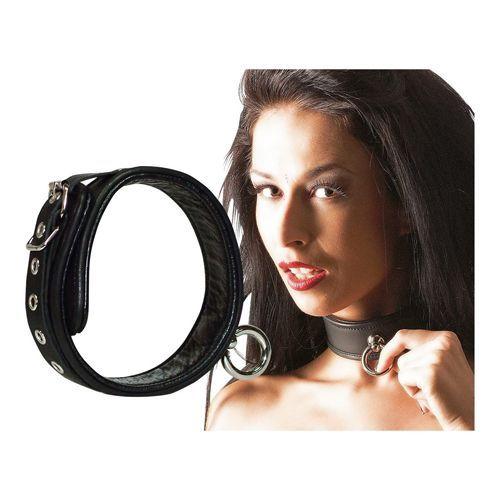 Zado Lederen halsband met ring