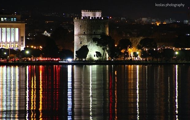 Thessaloniki, White Tower, astride the Thermaic Gulf, historical Macedonia northern Greece