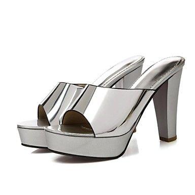 Γυναικεία παπούτσια - Τσόκαρα & Μιουλ - Φόρεμα / Καθημερινά - Χοντρό Τακούνι - Με Τακούνι / Πλατφόρμες - Λουστρίν / Προσαρμοσμένα Υλικά - 4849051 2017 – €13.96