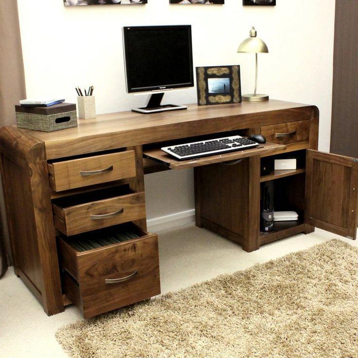 walnut office furniture. shiro solid walnut twin pedestal computer desk home office furniturehome furniture