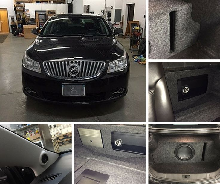 """This isn't your average Buick! We stared by adding 6.5 inch Focal speakers in the original factory locations, which are power by a JL 4-channel amp. We then created a custom ported enclosure with a 12"""" Memphis Car Audio M5 subwoofer, and a Memphis M-Class 1000 watt amp. The enclosure was built into the trunk of the vehicle and you can access the amplifiers by simply folding down the rear seats. This is a perfect example of adding custom audio, while maintaining a factory look. If you're…"""