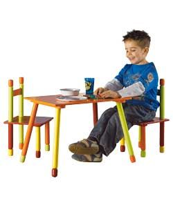 children 39 s colourful table and 2 chairs argos