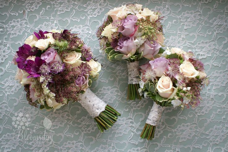 vintage lace bouquets in purple and lilac   Flickr - Photo Sharing!