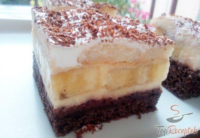 Lambada sütemény banánnal és csokoládéval