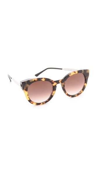 Aries style notes : adventurous, modern, bold. Thierry Lasry Magnety Sunglasses