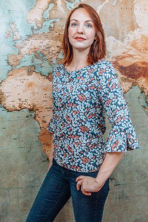 blouse à volants - patron gratuit à télécharger