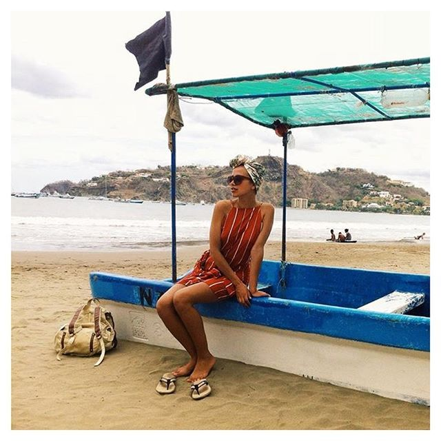 Nicaragua daydreaming via #angelamoyra in the #BananaWeave sandal. ⛅️ #Indosole #TiresToSoles #SolesWithSoul