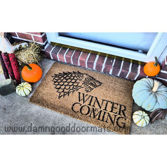 Winter is Coming Direwolf House of Stark by DamnGoodDoormats, $45.00
