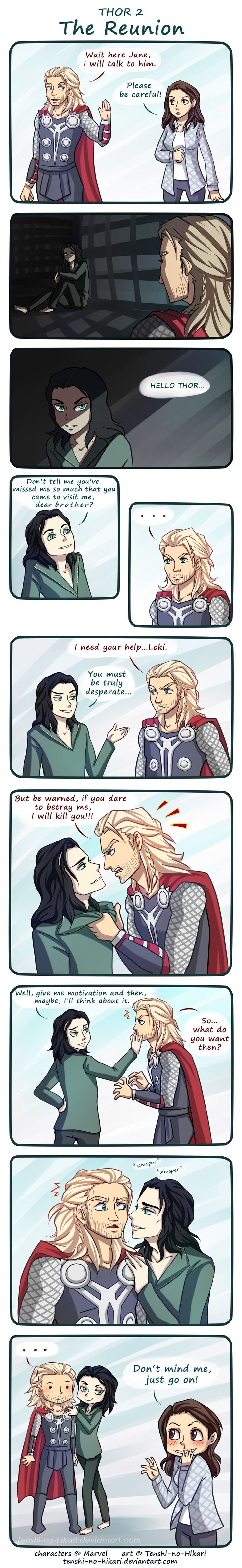 Thor 2 - The Reunion by Tenshi-no-Hikari.deviantart.com on @deviantART